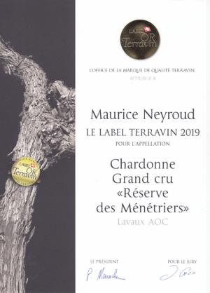 Diplôme Terravin 2019